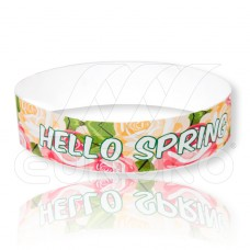 Hello Spring - Tyvek Eintrittsbänder mit Frühlingsmotiven