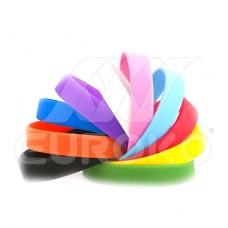 Einfarbige Silikonarmbänder ohne Druck